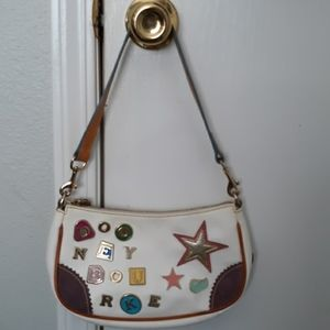 D&B Vintage #1 Alphabet Charm Leather Zip Top Bag